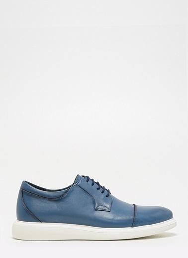 D by Divarese Deri Ayakkabı Mavi